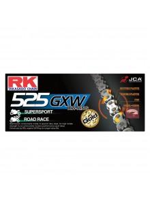 RK EXCEL Chaîne d'entraînement - 525GXW Chaîne de moto route, XW-Ring