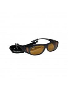GREEN TRAIL Lunettes de soleil pour lunettes d'ordonnance Noir