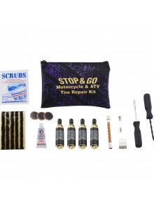 STOP & GO Ensemble de réparation pour pneus de moto et VTT