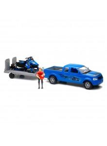 New Ray Toys Modèle réduit d'un camion avec motoneige Polaris