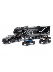 New Ray Toys Modèle réduit - Camion Toy Hauler avec VTT Polaris