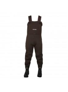 Compass360 Bottes-pantalon en caoutchouc jusqu'a la poitrine Rogue avec semelle en feutre