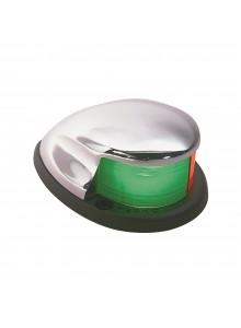 PERKO  Feu de proue en chrome 12Volt à deux couleurs Feu de proue - Argent