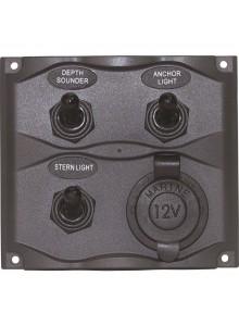 Kimpex Panneaux de commutation avec prise de courant