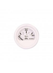 Faria Manomètre à pression d'huile série tout-blanc Bateau - 705858