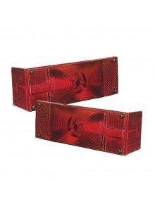 Wesbar Lentille de feu arrière étanche affleuré Rouge