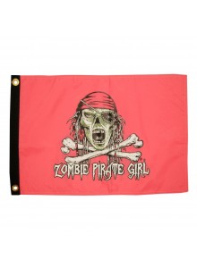 "TAYLOR MADE Drapeaux, Nylon ""Pirate Girl Zombie"""