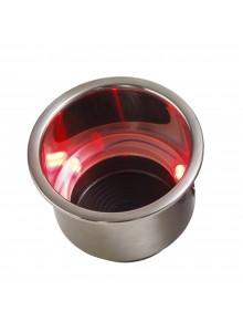 SEA DOG Porte-gobelet en acier inoxydable avec LED