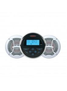 JENSEN Récepteur audio AM/FM/USB Bluetooth et une paire d'haut-parleurs Marine - 2 - 160 W