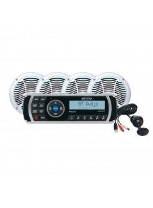 JENSEN Récepteur audio AM/FM/USB Bluetooth étanche avec 4 haut-parleurs Marine - 4 - 160 W