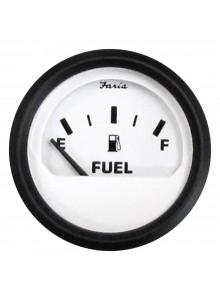 Faria Indicateur de niveau d'essence série Euro blanc Bateau - 706125